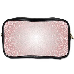 Pink Damask Travel Toiletry Bag (two Sides) by ADIStyle