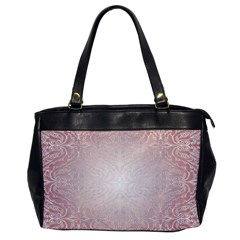 Pink Damask Oversize Office Handbag (one Side)