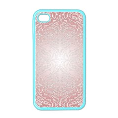 Pink Damask Apple Iphone 4 Case (color) by ADIStyle