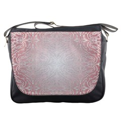 Pink Damask Messenger Bag by ADIStyle
