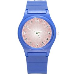 Pink Damask Plastic Sport Watch (small) by ADIStyle