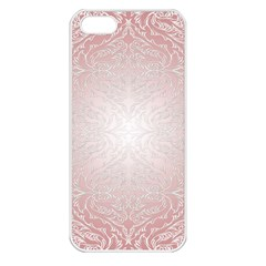 Pink Damask Apple Iphone 5 Seamless Case (white) by ADIStyle
