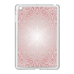 Pink Damask Apple Ipad Mini Case (white)