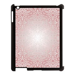 Pink Damask Apple Ipad 3/4 Case (black) by ADIStyle