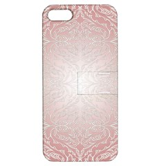 Pink Damask Apple Iphone 5 Hardshell Case With Stand by ADIStyle