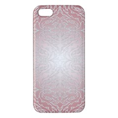 Pink Damask Iphone 5 Premium Hardshell Case