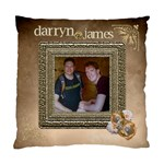 Darryn & James - Standard Cushion Case (One Side)