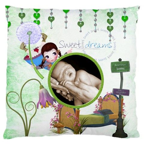 Sweet Dreams  Large Cushion Single Side By Catvinnat   Large Cushion Case (one Side)   Zp3b7vcrlg4c   Www Artscow Com Front