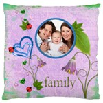 Family Large Cushion Single Side - Large Cushion Case (One Side)