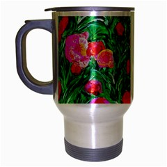 Flower Dreams Travel Mug (silver Gray) by dawnsebaughinc