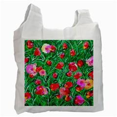 Flower Dreams Recycle Bag (one Side) by dawnsebaughinc