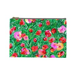 Flower Dreams Cosmetic Bag (large) by dawnsebaughinc