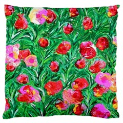 Flower Dreams Large Cushion Case (two Sides) by dawnsebaughinc