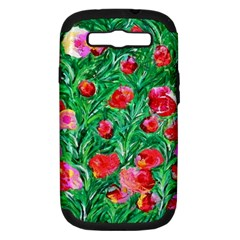 Flower Dreams Samsung Galaxy S Iii Hardshell Case (pc+silicone) by dawnsebaughinc