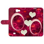 I Heart You Pink Galaxy Note 2 Folio - Samsung Galaxy Note 2 Leather Folio Case