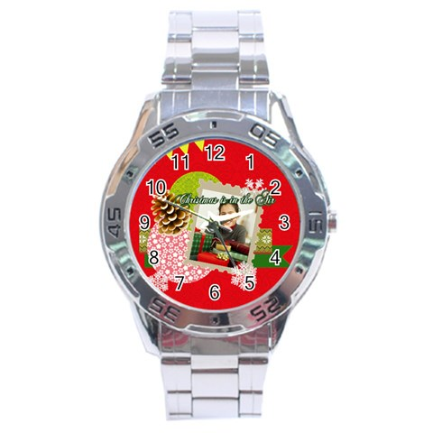 Christmas By Merry Christmas   Stainless Steel Analogue Watch   Z0964ur58ewz   Www Artscow Com Front