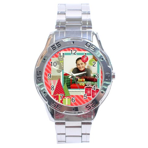 Christmas By Merry Christmas   Stainless Steel Analogue Watch   40do9ti8c9ei   Www Artscow Com Front