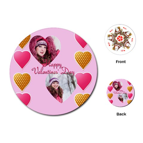 Love By Ki Ki   Playing Cards (round)   Z6130h98j2o3   Www Artscow Com Front
