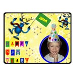 Happy New Year Small Blanket - Fleece Blanket (Small)
