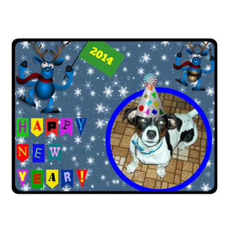 Happy New Year Small Blanket 2 By Joy Johns   Fleece Blanket (small)   3jnr3z48mrkf   Www Artscow Com 50 x40 Blanket Front