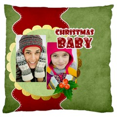 Christmas By Merry Christmas   Large Cushion Case (two Sides)   Dfoz4ryue9n0   Www Artscow Com Back