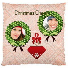 Christmas By Merry Christmas   Large Cushion Case (two Sides)   Zesn2qgea6f7   Www Artscow Com Back