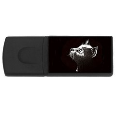 Shadow Cat 4gb Usb Flash Drive (rectangle) by CMCreations