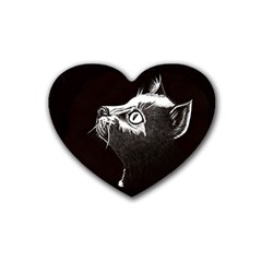 Shadow Cat Drink Coasters (heart)
