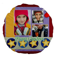 Christmas By Merry Christmas   Large 18  Premium Round Cushion    26pthcbrc7wd   Www Artscow Com Front