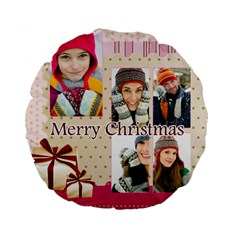 Christmas By Merry Christmas   Standard 15  Premium Round Cushion    22qufzm6e08u   Www Artscow Com Back