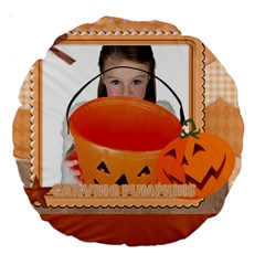 Helloween By Helloween   Large 18  Premium Round Cushion    Fovfl1nvfrun   Www Artscow Com Front