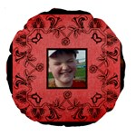 Art Nouveau Red Round Cushion - 18  Premium Round Cushion