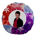 Funky Snowflake Round Cushion - Large 18  Premium Round Cushion