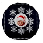 Snowflake II Round Cushion - Large 18  Premium Round Cushion