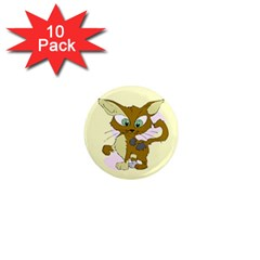 Cute cat 1  Mini Magnet (10 pack)  by zooicidal