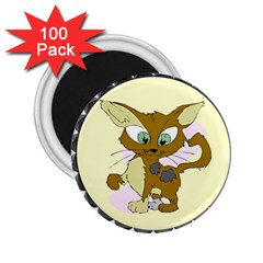 Cute cat 2.25  Magnet (100 pack)  by zooicidal