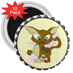 Cute cat 3  Magnet (10 pack) by zooicidal