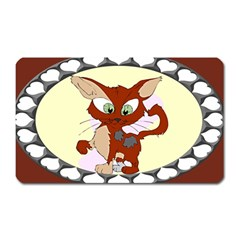 Cute cat Magnet (Rectangular) by zooicidal