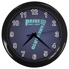 Seven Wall Clock (black) by Rasterize