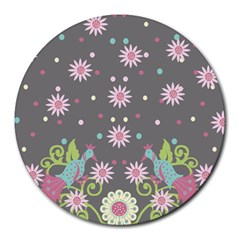 Extinct Birds 8  Mouse Pad (round)