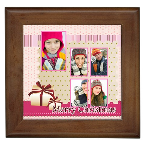 Christmas By Merry Christmas   Framed Tile   Rvfktblqw5ai   Www Artscow Com Front