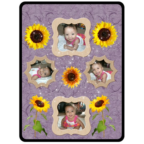 Sunflower Blanket By Angeye   Fleece Blanket (large)   0ipv8icednvy   Www Artscow Com 80 x60 Blanket Front