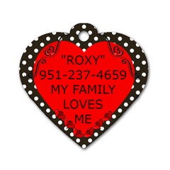 Handsome By Connie Christensen   Dog Tag Heart (two Sides)   A6xmbml1flnk   Www Artscow Com Back