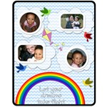 rainbow blanket medium - Fleece Blanket (Medium)