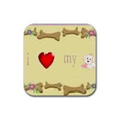 I Love My Dog! II Drink Coaster (Square)