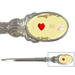 I Love My Dog! Ii Letter Opener by mysticalimages