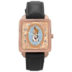 Arn t I Adorable? Rose Gold Leather Watch  by mysticalimages