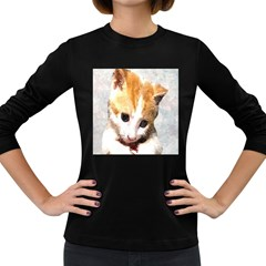 Sweet Face :) Womens' Long Sleeve T Shirt (dark Colored) by mysticalimages