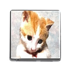 Sweet Face :) Memory Card Reader With Storage (square)