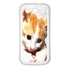 Sweet Face :) Samsung Galaxy S3 Back Case (white) by mysticalimages